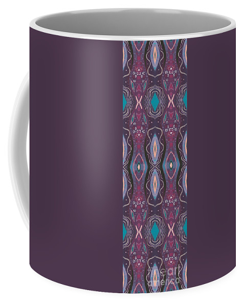 Purple Coffee Mug featuring the digital art Into The Purple by Helena Tiainen