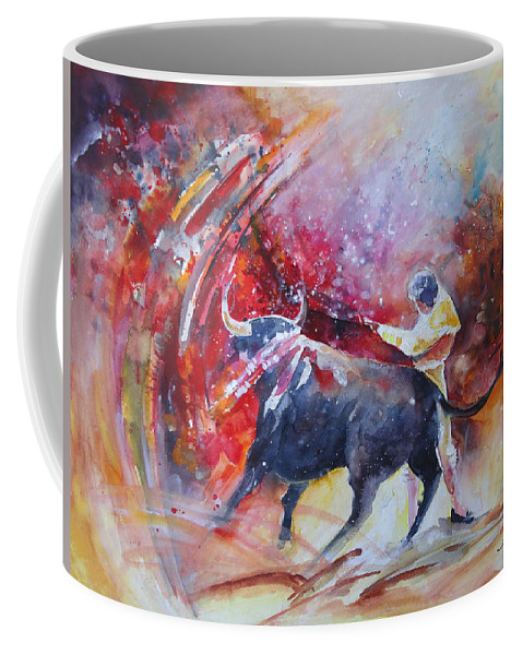Animals Coffee Mug featuring the painting Into The Red by Miki De Goodaboom
