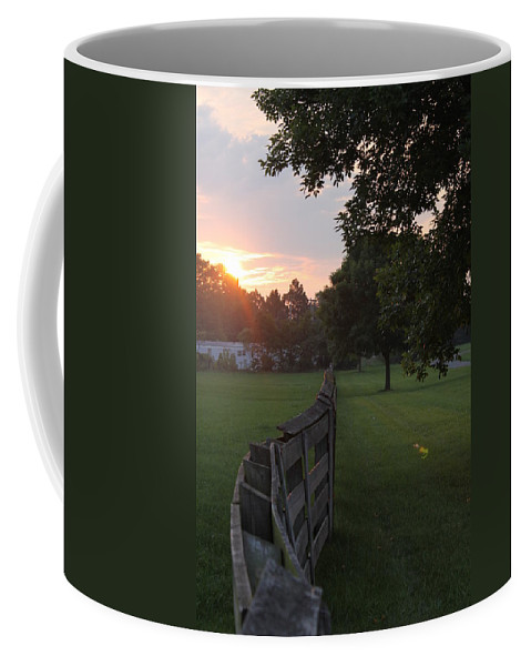 Fence Coffee Mug featuring the photograph Into The Sun by Lauri Novak