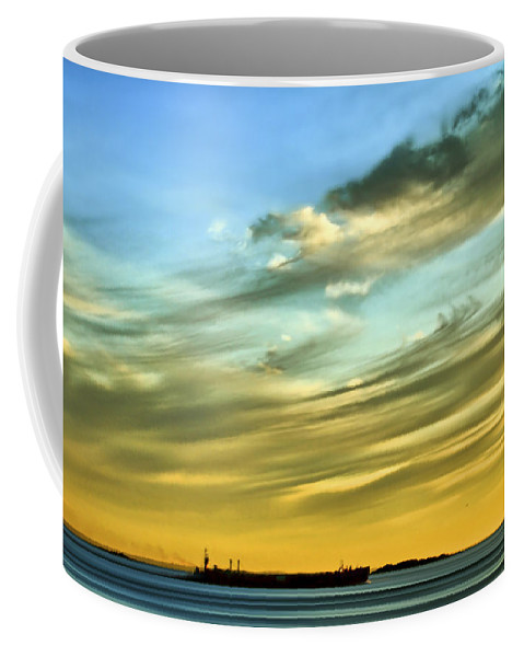 Sunset Coffee Mug featuring the photograph Into The Sunset by Evelina Kremsdorf