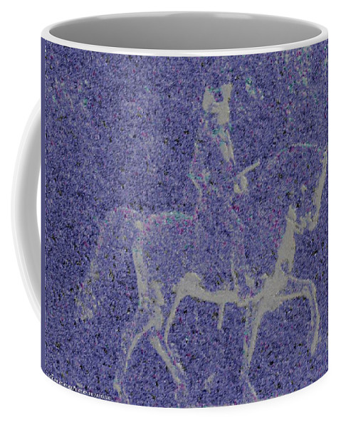 Horse Coffee Mug featuring the digital art Into The Unknown - Study #1 by Vincent Green
