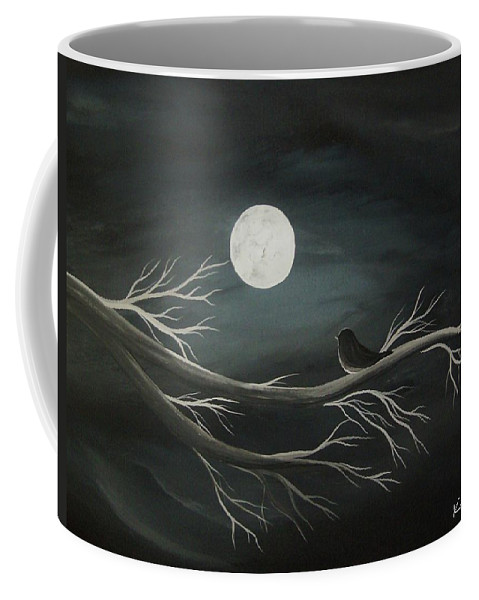 Moon Coffee Mug featuring the painting Intrigue by Katie Slaby