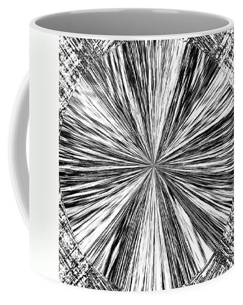 Black & White Coffee Mug featuring the digital art Introspective by Will Borden