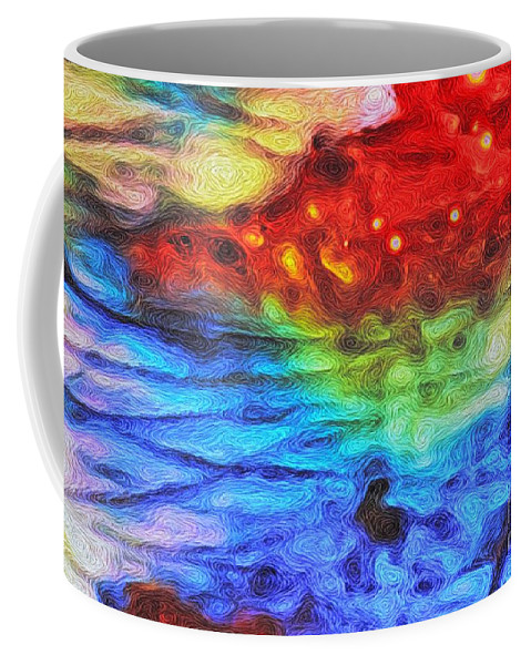 Fine Art Painting Coffee Mug featuring the digital art Intrusion by John Strong