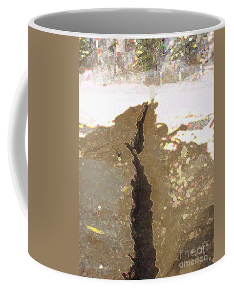 Abstract Coffee Mug featuring the digital art Intrusion by Ron Bissett