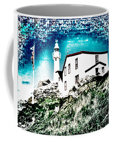 Lighthouse Coffee Mug featuring the photograph Inverted Lighthouse by Donna Brown