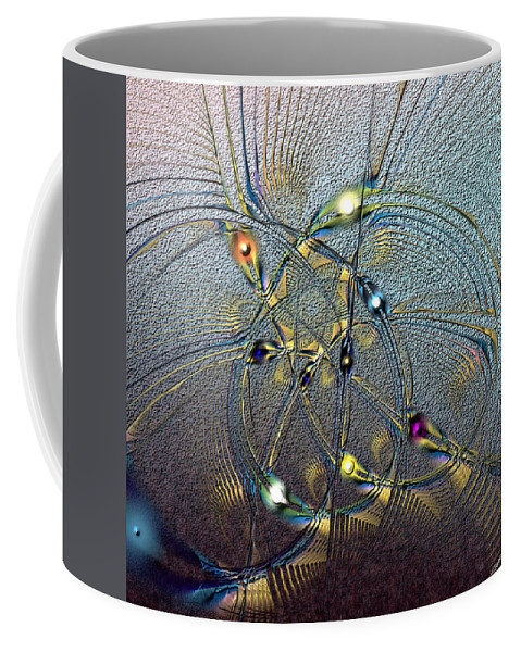 Abstract Coffee Mug featuring the digital art Inviolate Relativism by Casey Kotas