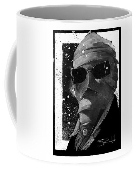 Universal Studios Art Coffee Mug featuring the painting Invisible Man by Sean Parnell