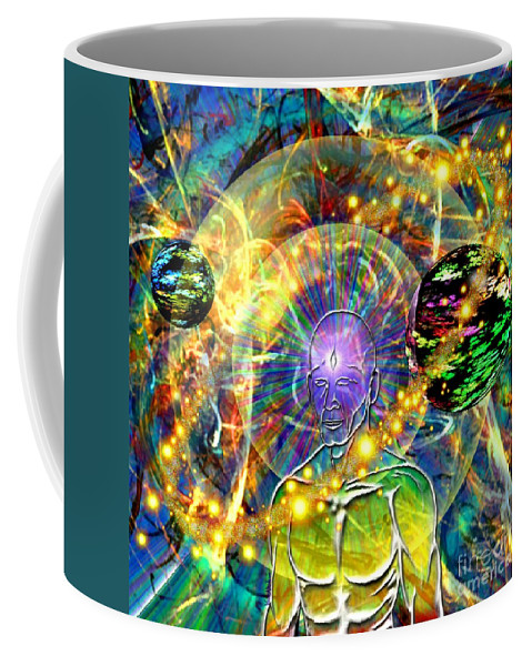 Vincent Autenrieb Coffee Mug featuring the digital art Inward Exploration by Vincent Autenrieb