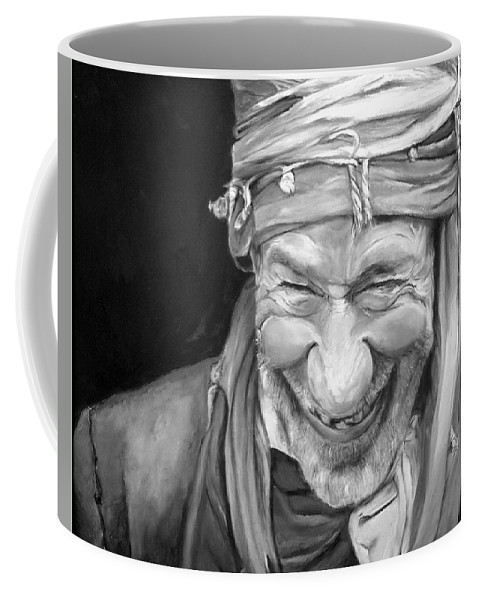 Man Coffee Mug featuring the painting Iranian Man by Portraits By NC