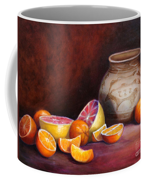 Still Life Paintings Coffee Mug featuring the painting Iranian Still Life by Portraits By NC