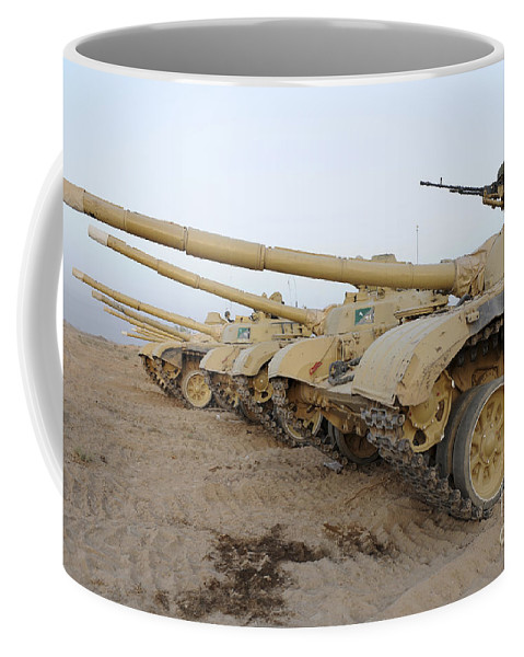 Iraqi Army Coffee Mug featuring the photograph Iraqi T-72 Tanks From Iraqi Army by Stocktrek Images