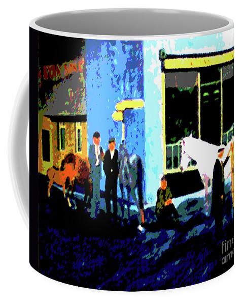 Ireland Coffee Mug featuring the painting Irelandryans by Karen Francis
