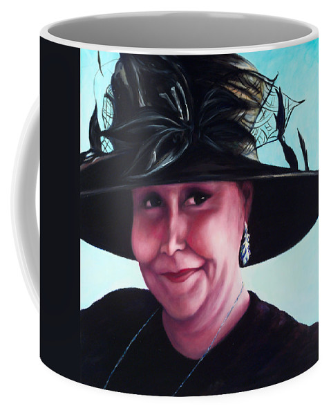 Woman Coffee Mug featuring the painting Irene by Shannon Grissom