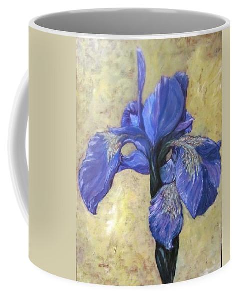 Flowers Coffee Mug featuring the painting Iris by Barbara O'Toole