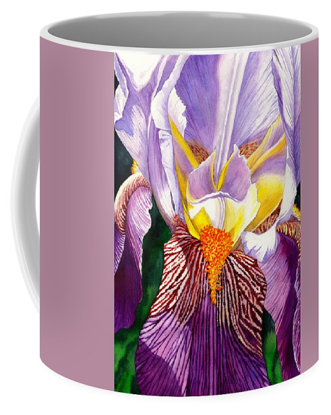Iris Coffee Mug featuring the painting Iris by Catherine G McElroy