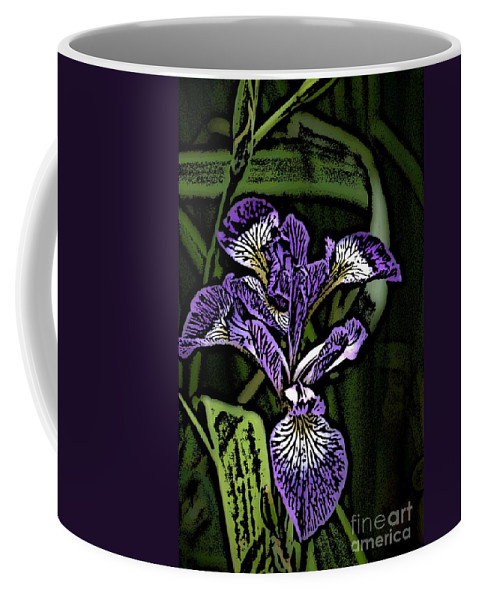 Digital Photograph Coffee Mug featuring the photograph Iris by David Lane