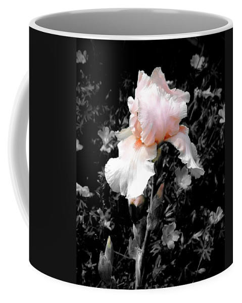 Flower Coffee Mug featuring the photograph Iris Emergance by Steve Karol