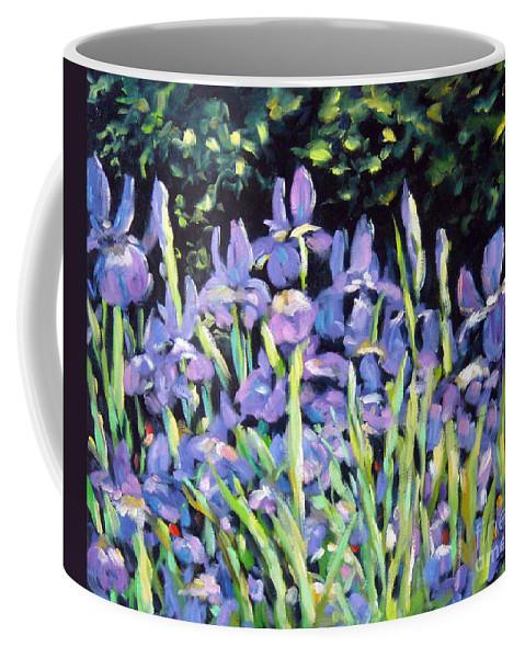 Art Coffee Mug featuring the painting Iris En Folie by Richard T Pranke