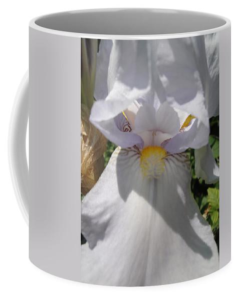 Flora Coffee Mug featuring the photograph Iris Eyes by Susan Baker