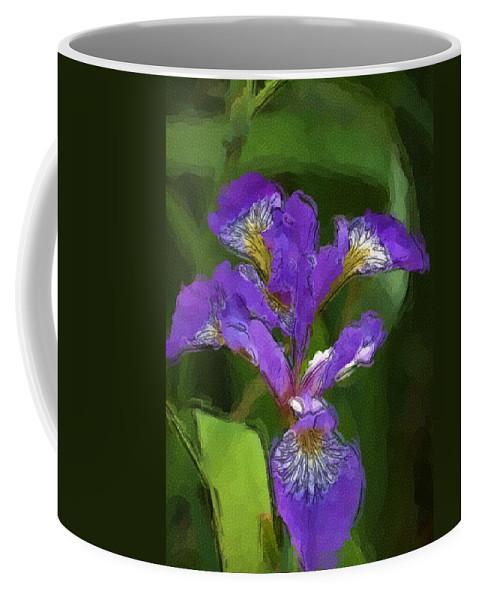 Digital Photograph Coffee Mug featuring the photograph Iris II by David Lane