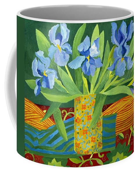 Iris Coffee Mug featuring the painting Iris by Jennifer Abbot