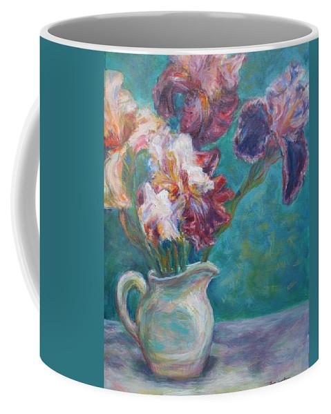 Impressionist Coffee Mug featuring the painting Iris Medley - Original Impressionist Painting by Quin Sweetman