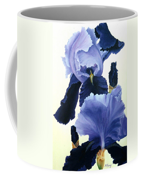 Flower Coffee Mug featuring the painting Iris by Melissa Joyfully