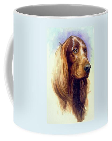 Sporting Group Coffee Mug featuring the painting Irish Setter by Barbara Keith