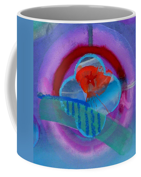 Logo Coffee Mug featuring the painting Iron Butterfly by Charles Stuart