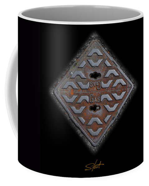 Cast Iron Coffee Mug featuring the photograph Iron Diamond by Charles Stuart