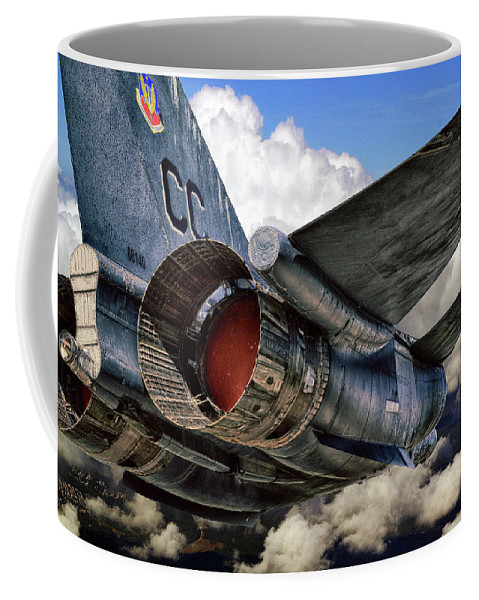 Airplane Coffee Mug featuring the photograph Iron Eagle by Rebecca Fourcher