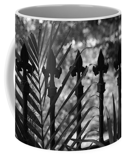 Wrought Iron Coffee Mug featuring the photograph Iron Fence by Rob Hans