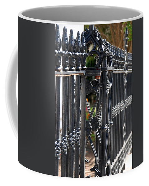 Iron Fence Coffee Mug featuring the photograph Iron Fence by Susanne Van Hulst