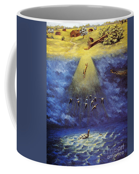 America Coffee Mug featuring the photograph Iroquois Creation Myth by Granger