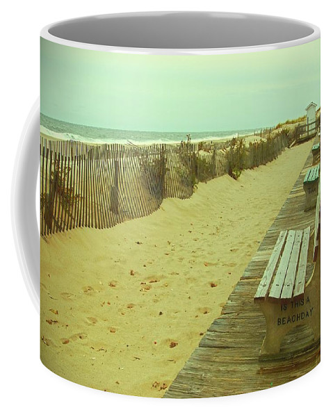 Jersey Shore Coffee Mug featuring the photograph Is This A Beach Day - Jersey Shore by Angie Tirado