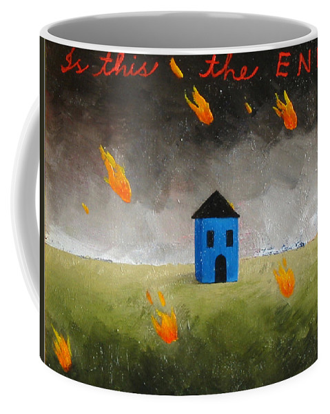 House Coffee Mug featuring the painting Is This The End by Pauline Lim