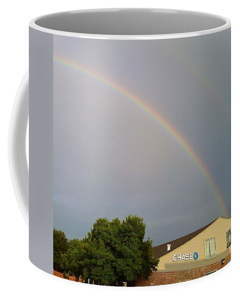 Pot Of Gold Coffee Mug featuring the photograph Is This The Pot Of Gold At The End Of The Rainbow by Cindy New