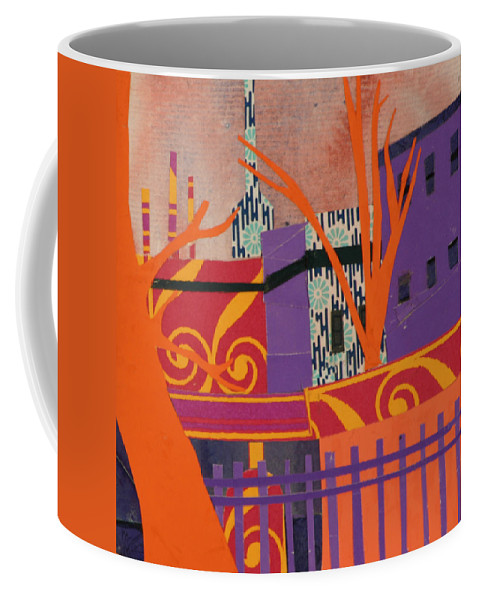 Boston Coffee Mug featuring the mixed media Isabella's Garden by Debra Bretton Robinson