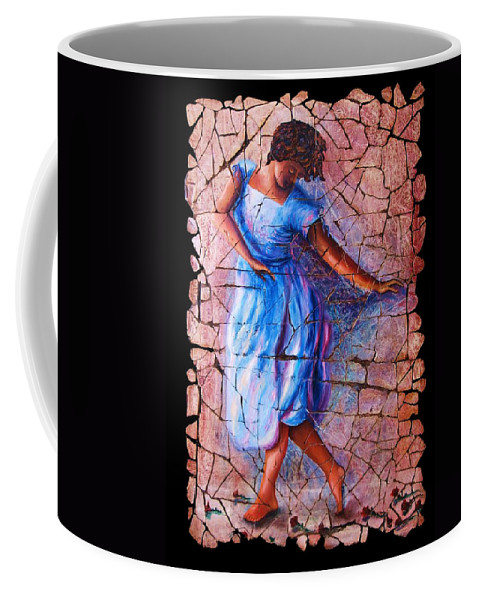 Isadora Duncan Coffee Mug featuring the painting Isadora Duncan - 3 by OLena Art Brand
