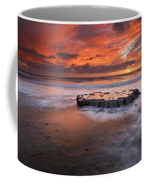 Island Coffee Mug featuring the photograph Island In The Storm by Mike Dawson