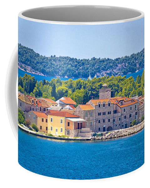 Adriatic Coffee Mug featuring the photograph Island Of Krapanj Waterfront View by Brch Photography