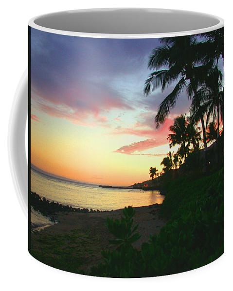 Sunset Coffee Mug featuring the photograph Island Sunset by Angie Hamlin