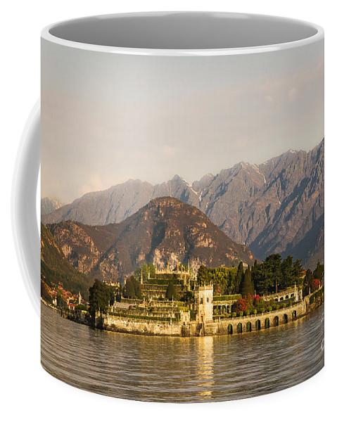 Isola Bella Coffee Mug featuring the photograph lake Maggiore, Borromean island, Piedmont Italy by Marco Arduino