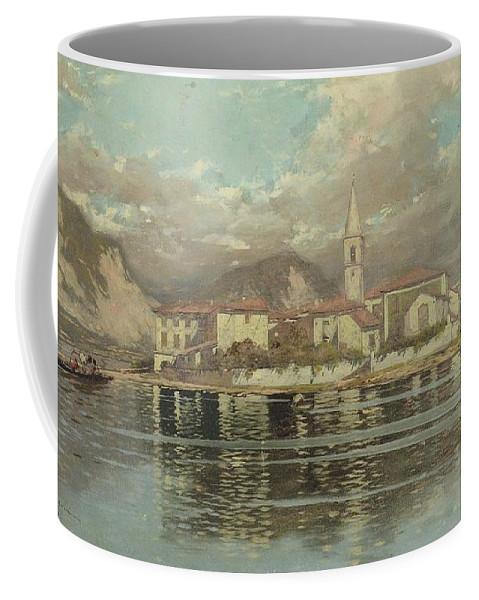 Riccardo Pellegrini (milano 1863 - Crescenzago 1934) Coffee Mug featuring the painting Isola Dei Pescatori by MotionAge Designs