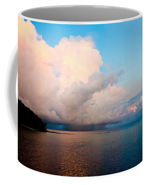 The Ocean Coffee Mug featuring the photograph Isolated Isolated Shower by Mumbles and Grumbles
