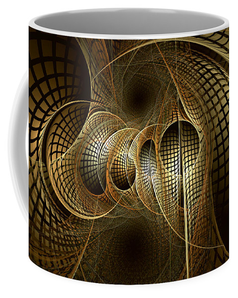 Abstract Coffee Mug featuring the digital art Issuance Of The Metropole by Casey Kotas