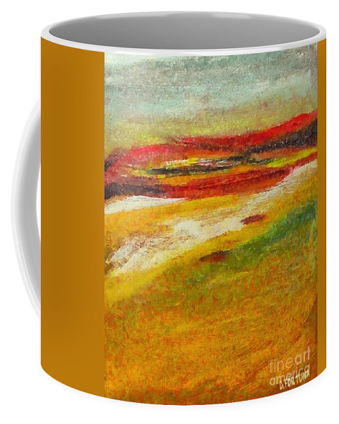 Landscape Coffee Mug featuring the mixed media Istrian Landscape by Dragica Micki Fortuna
