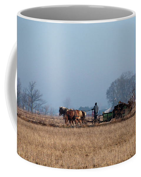 Amish Coffee Mug featuring the photograph It Bodes A Political Career by David Arment