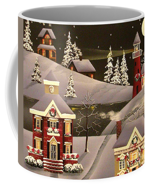 Art Coffee Mug featuring the painting It Came Upon A Midnight Clear by Catherine Holman